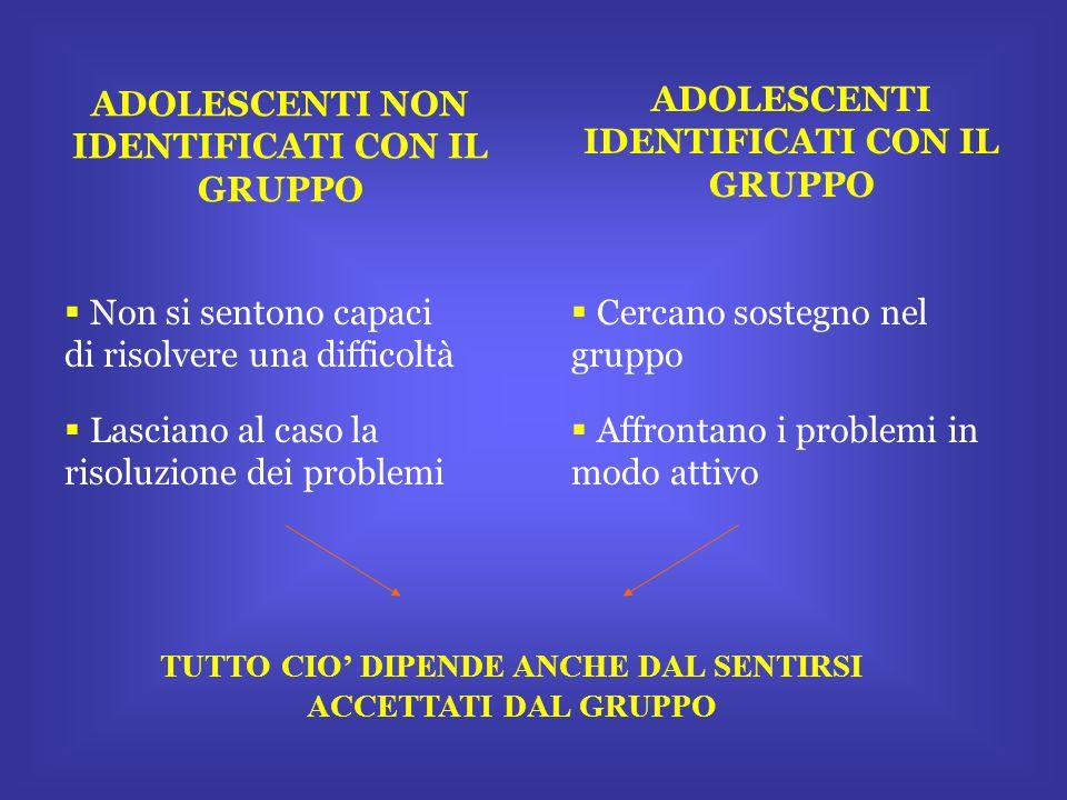 ADOLESCENTI NON IDENTIFICATI CON IL GRUPPO