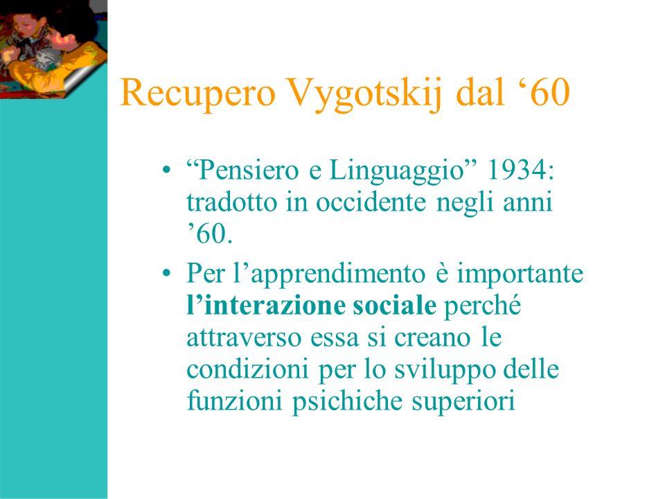 Recupero Vygotskij dal '60
