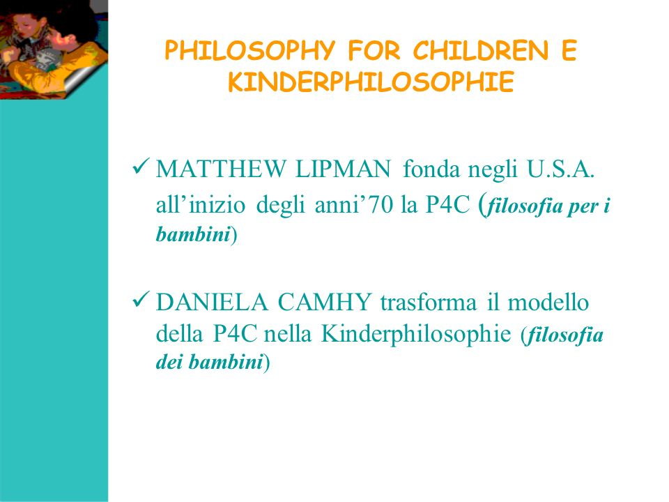PHILOSOPHY FOR CHILDREN E KINDERPHILOSOPHIE