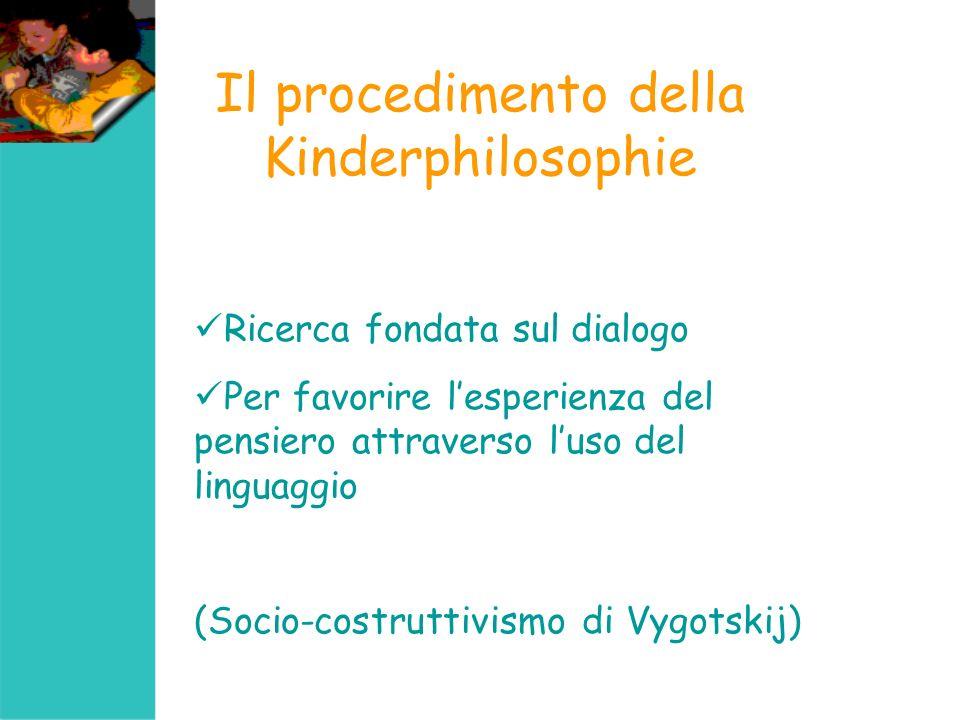 Il procedimento della Kinderphilosophie