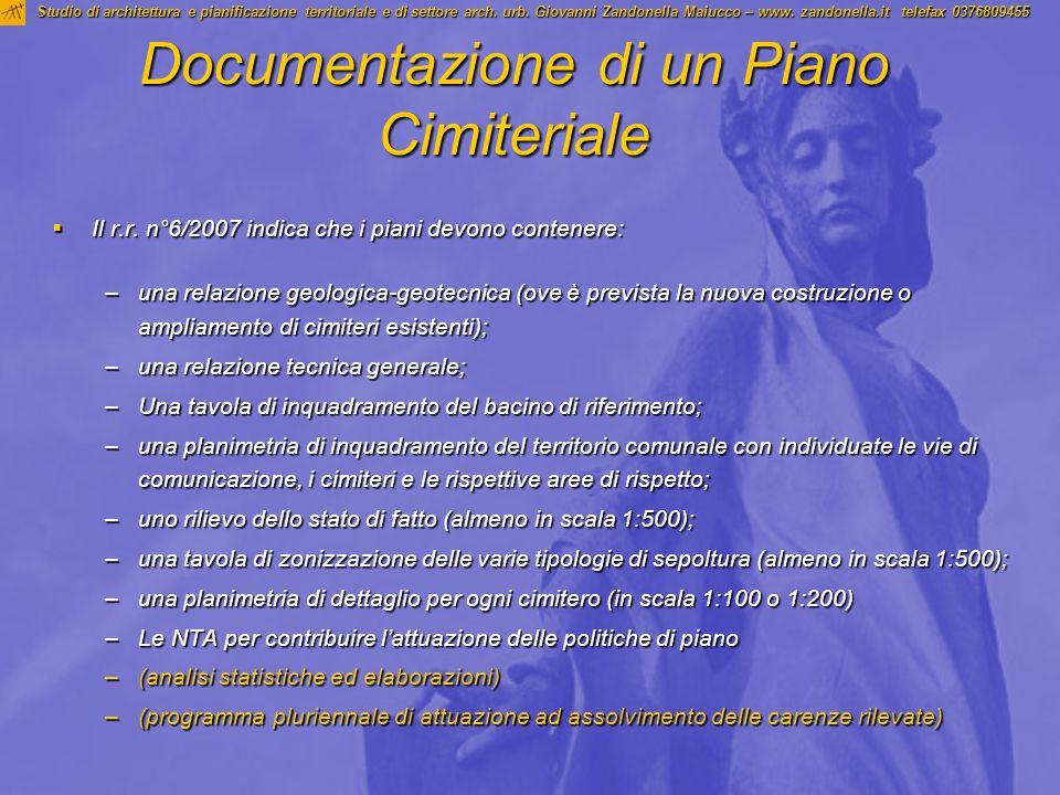 Documentazione di un Piano Cimiteriale