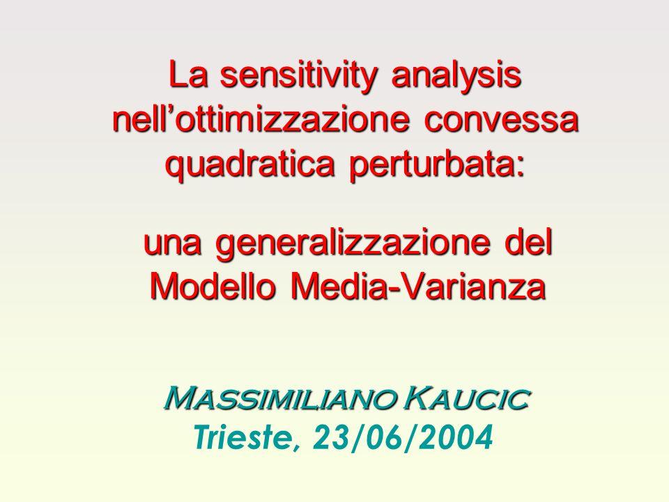 una generalizzazione del Modello Media-Varianza