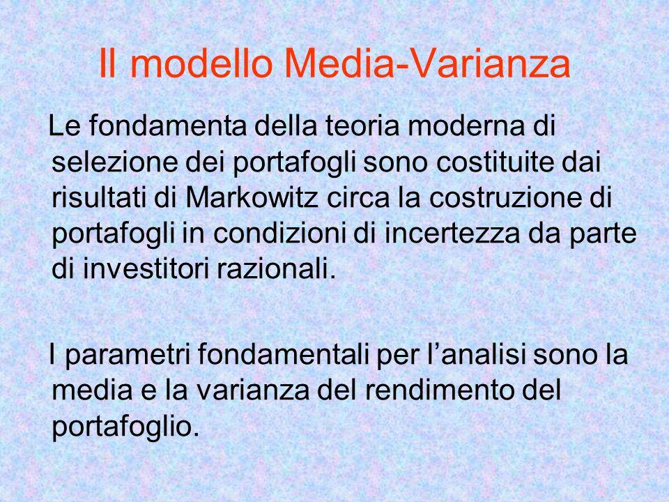 Il modello Media-Varianza
