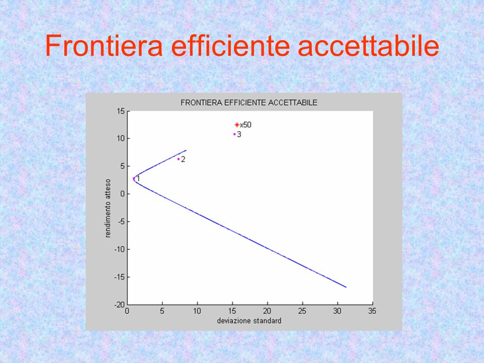 Frontiera efficiente accettabile