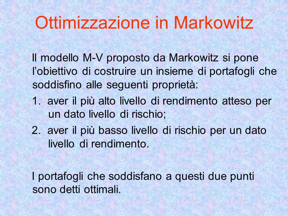 Ottimizzazione in Markowitz