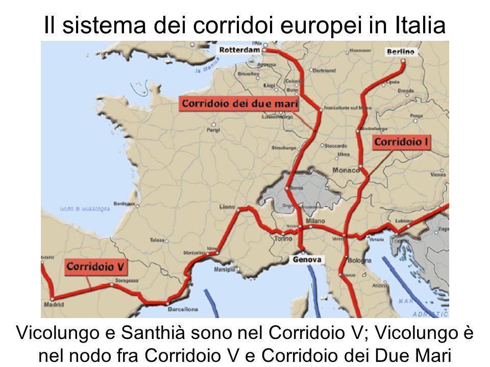 Il sistema dei corridoi europei in Italia