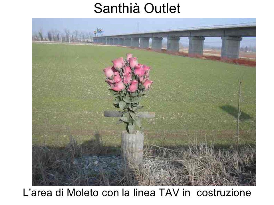 L'area di Moleto con la linea TAV in costruzione