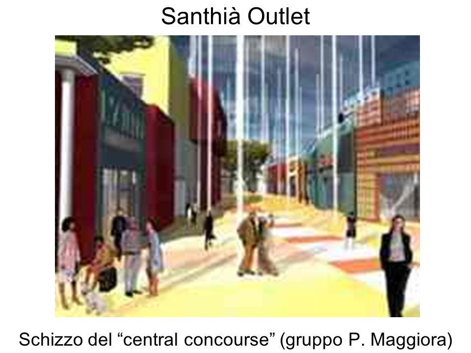 Schizzo del central concourse (gruppo P. Maggiora)