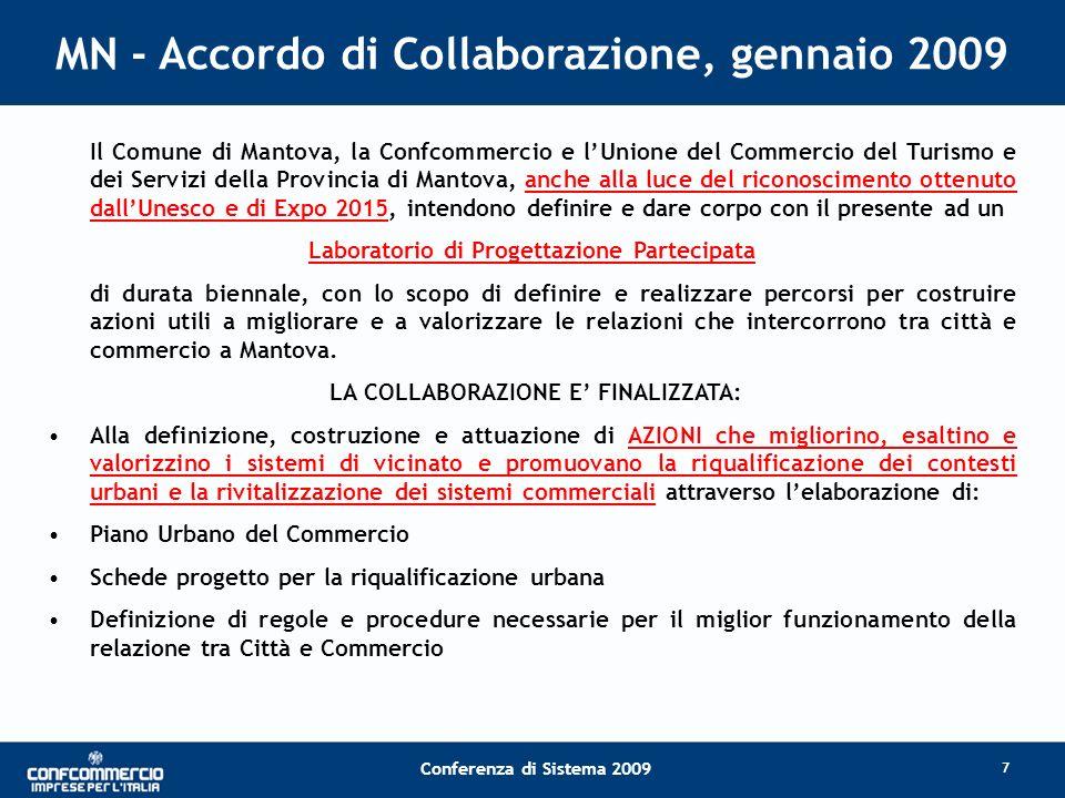MN - Accordo di Collaborazione, gennaio 2009