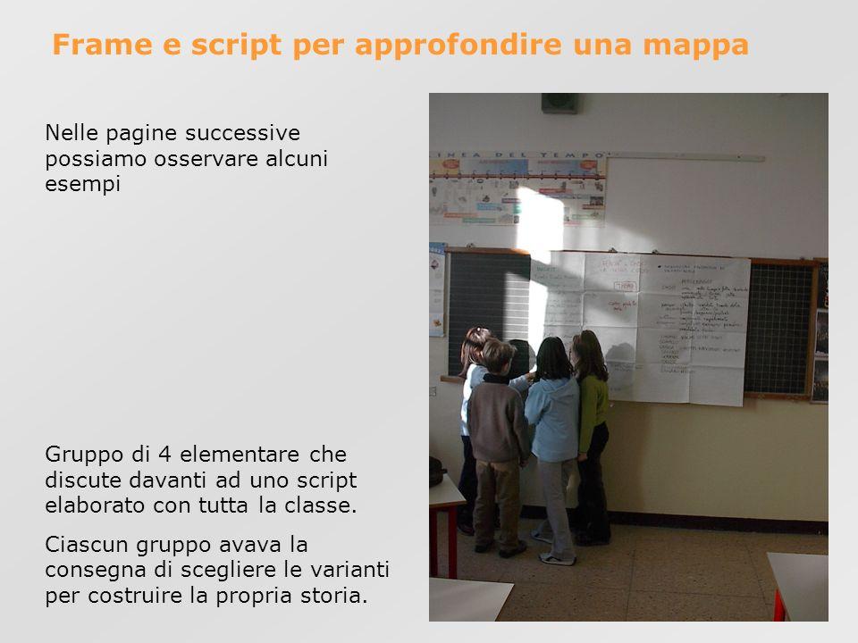 Frame e script per approfondire una mappa