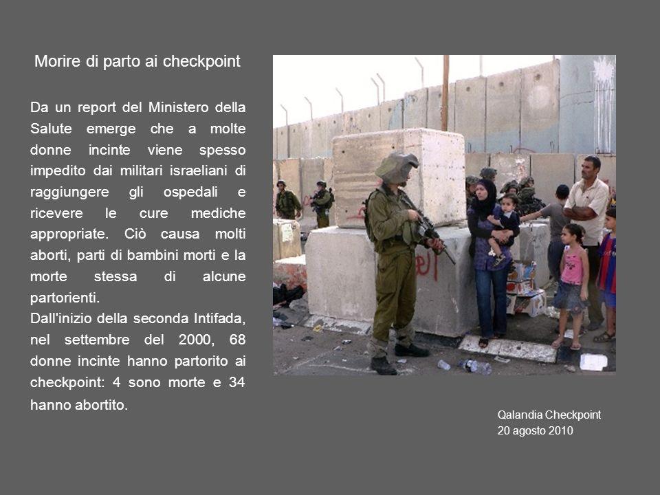 Morire di parto ai checkpoint