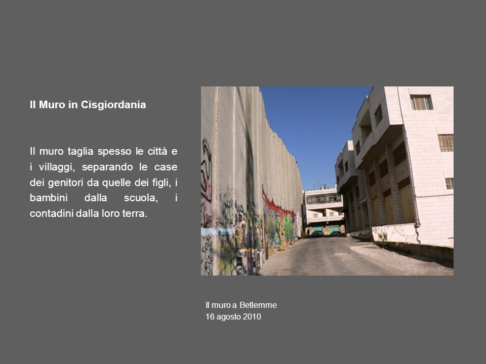 Il Muro in Cisgiordania