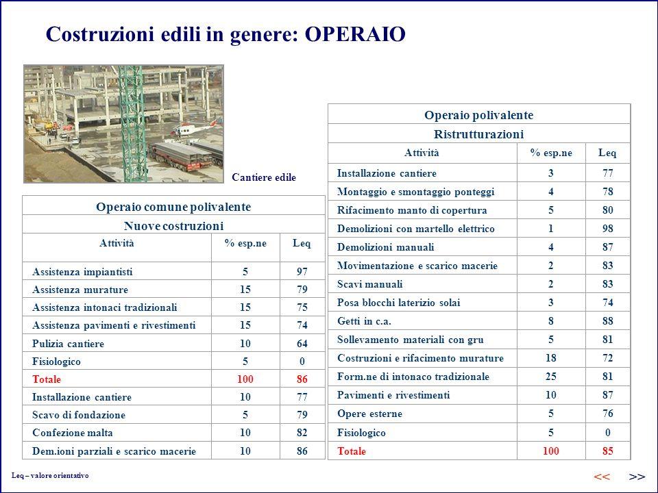 Costruzioni edili in genere: OPERAIO