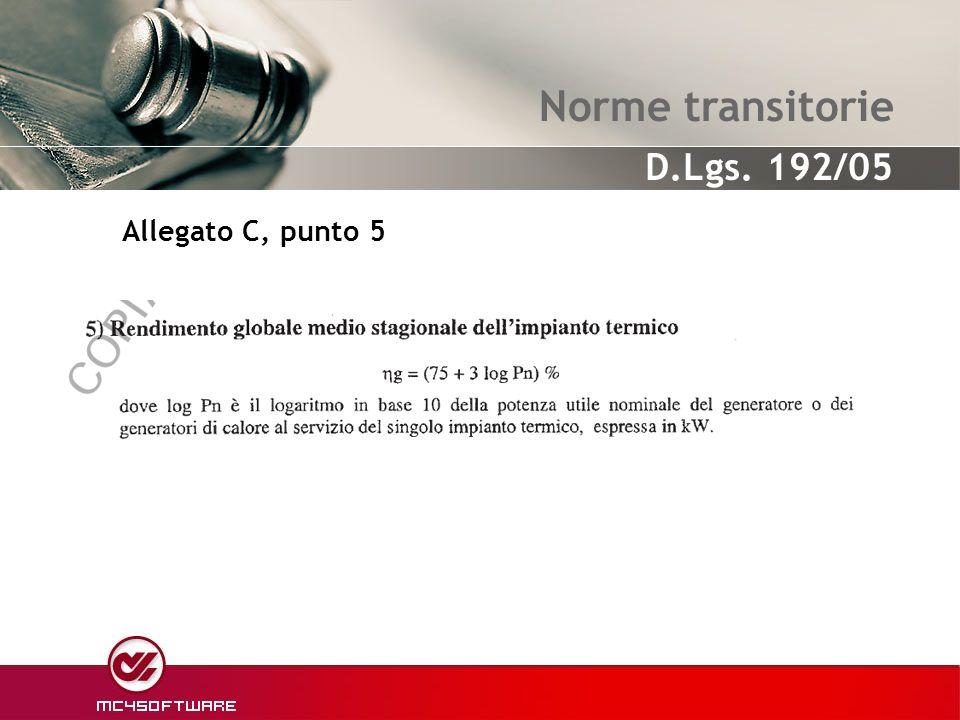 Norme transitorie Allegato C, punto 5