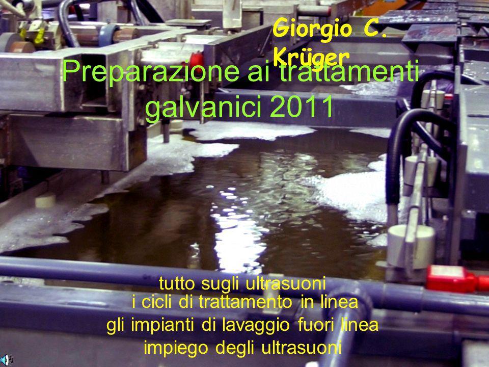 Preparazione ai trattamenti galvanici 2011