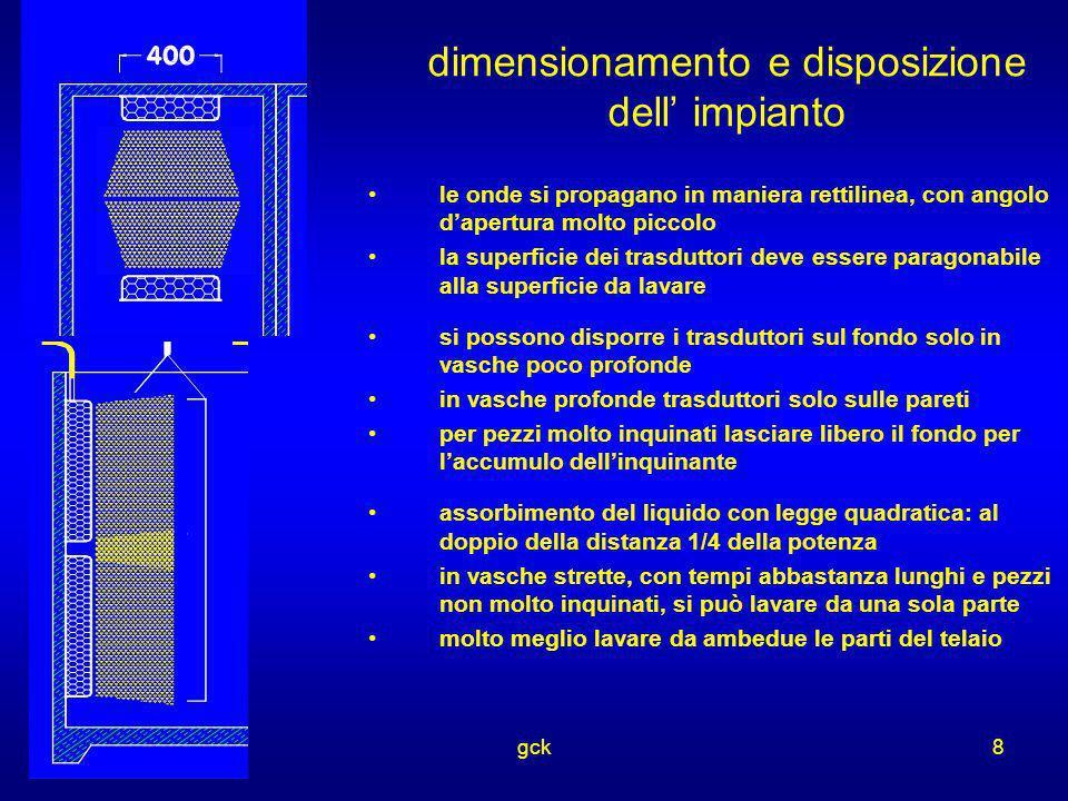 dimensionamento e disposizione dell' impianto