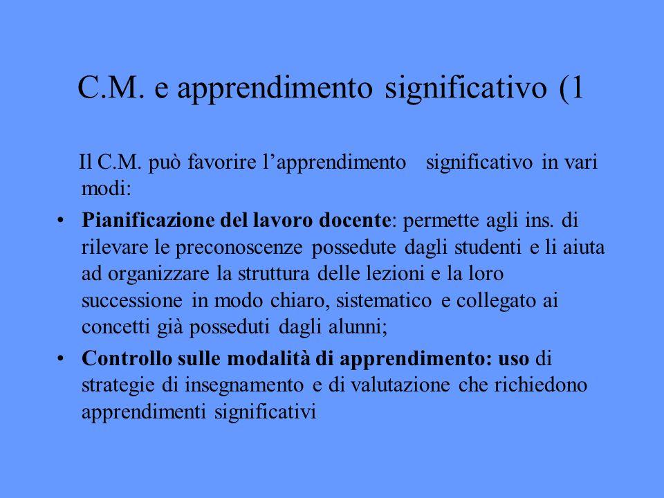 C.M. e apprendimento significativo (1