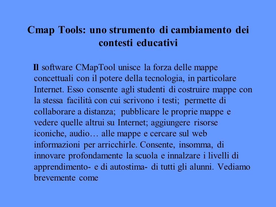 Cmap Tools: uno strumento di cambiamento dei contesti educativi