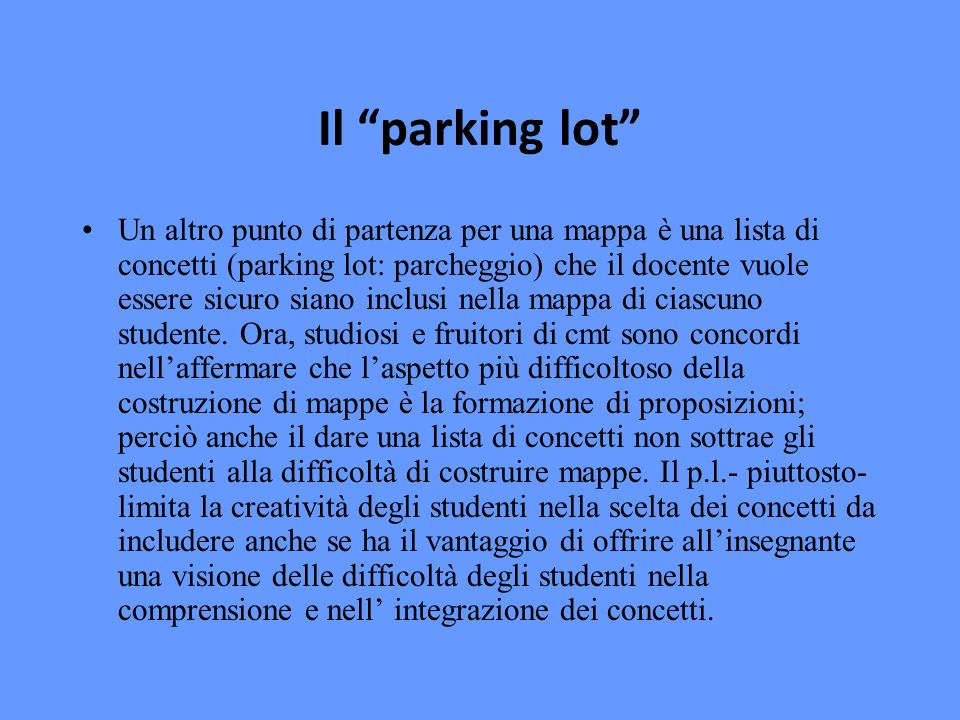 Il parking lot