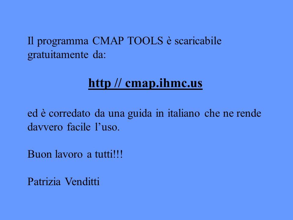 Il programma CMAP TOOLS è scaricabile gratuitamente da: