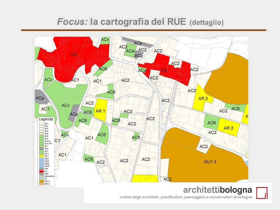 Focus: la cartografia del RUE (dettaglio)