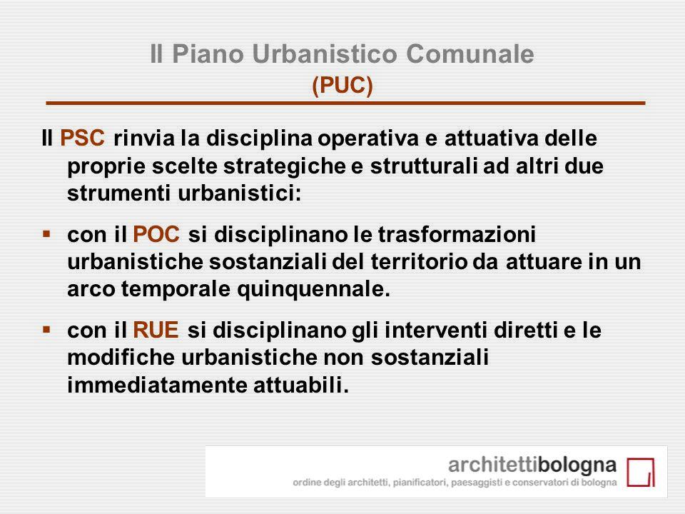 Il Piano Urbanistico Comunale (PUC)