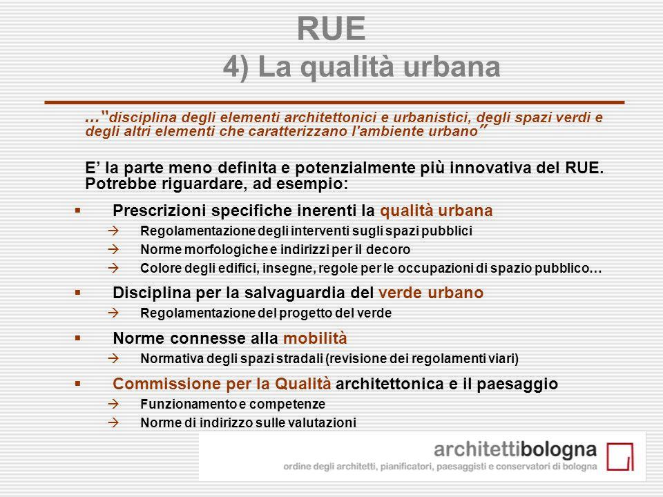 RUE 4) La qualità urbana