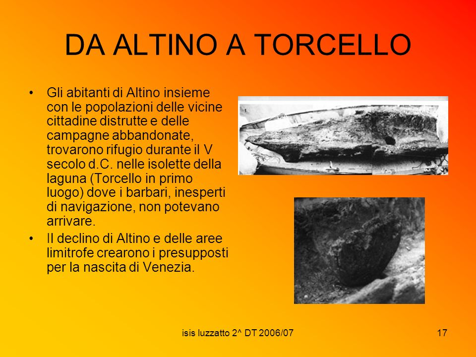DA ALTINO A TORCELLO