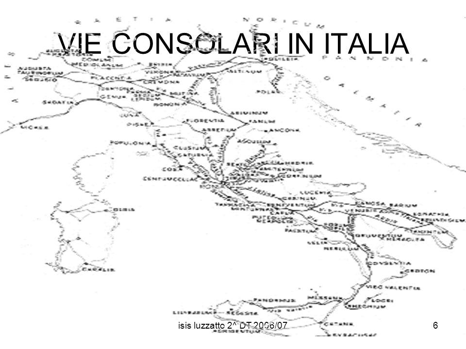 VIE CONSOLARI IN ITALIA
