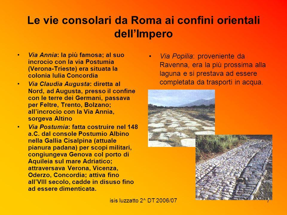Le vie consolari da Roma ai confini orientali dell'Impero