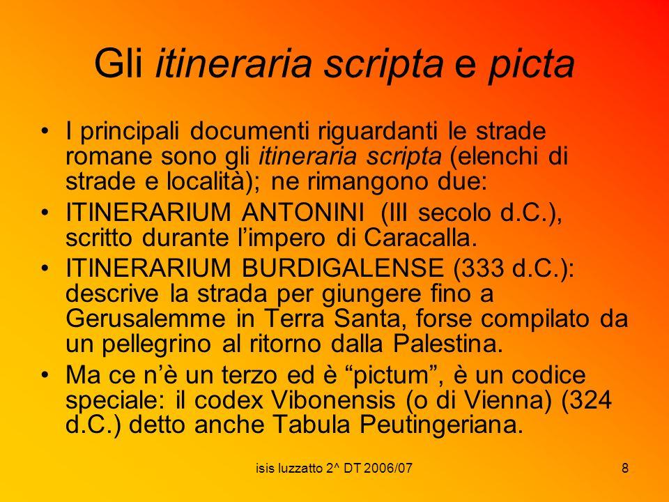 Gli itineraria scripta e picta