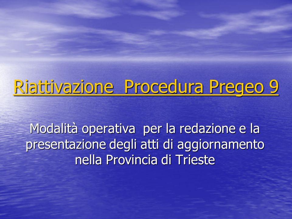 Riattivazione Procedura Pregeo 9