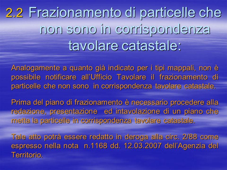 2. 2. Frazionamento di particelle che. non sono in corrispondenza