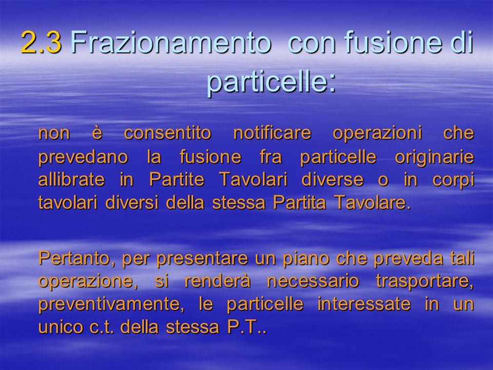 2.3 Frazionamento con fusione di particelle: