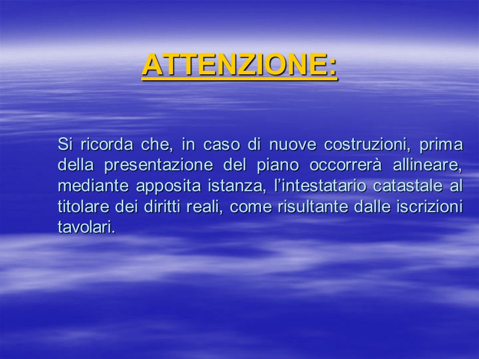 ATTENZIONE: