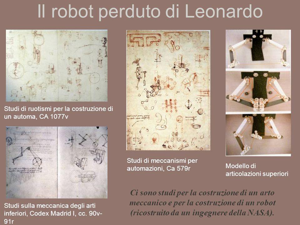 Il robot perduto di Leonardo