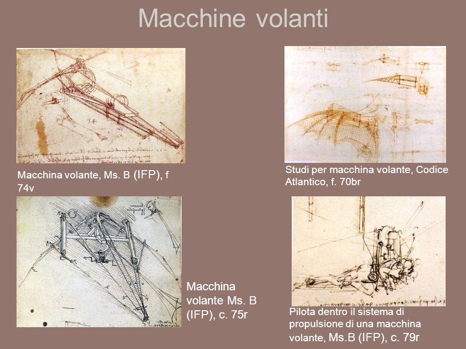Macchine volanti Macchina volante Ms. B (IFP), c. 75r
