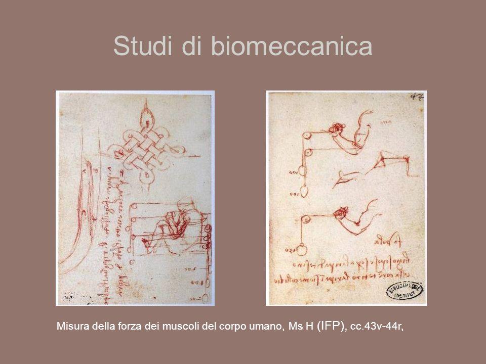 Studi di biomeccanica Misura della forza dei muscoli del corpo umano, Ms H (IFP), cc.43v-44r,