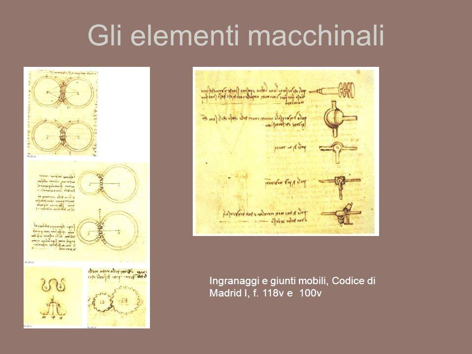 Gli elementi macchinali