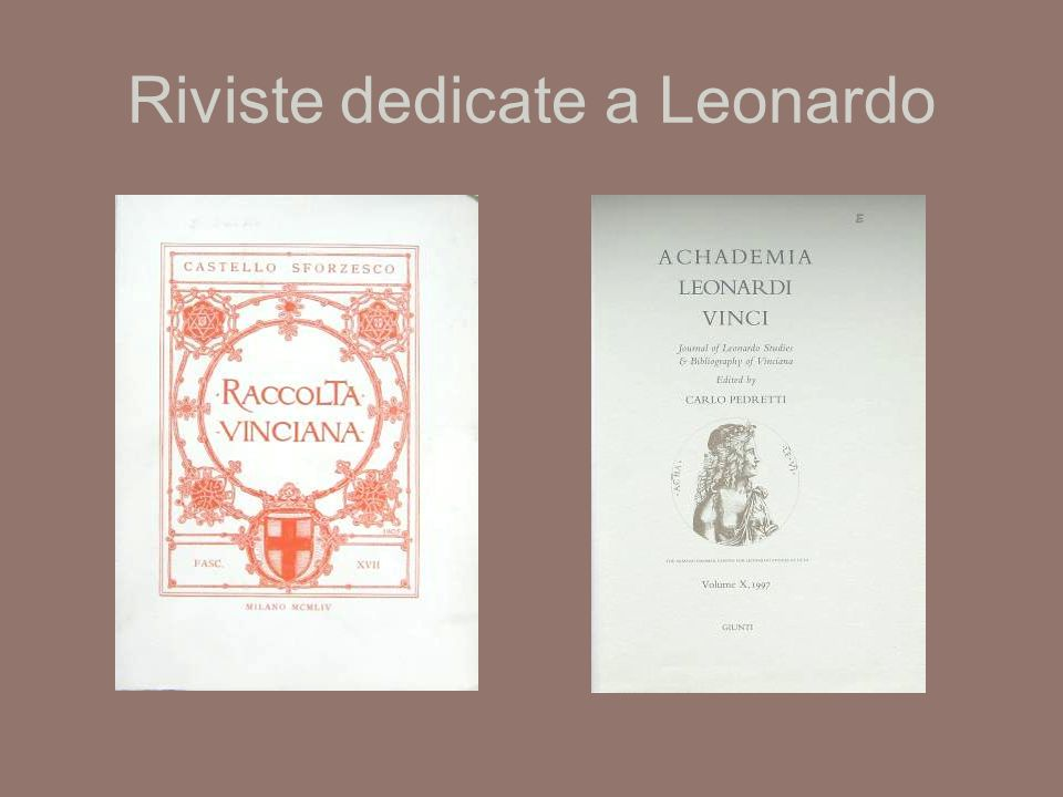 Riviste dedicate a Leonardo