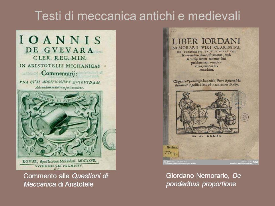 Testi di meccanica antichi e medievali