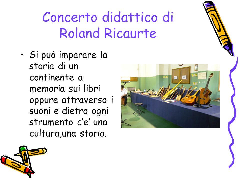 Concerto didattico di Roland Ricaurte