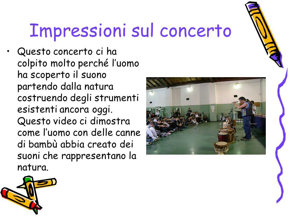 Impressioni sul concerto