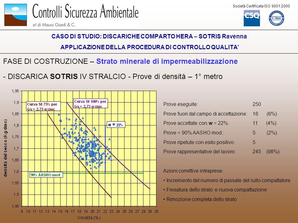 problematiche geologiche controllo qualit delle barriere