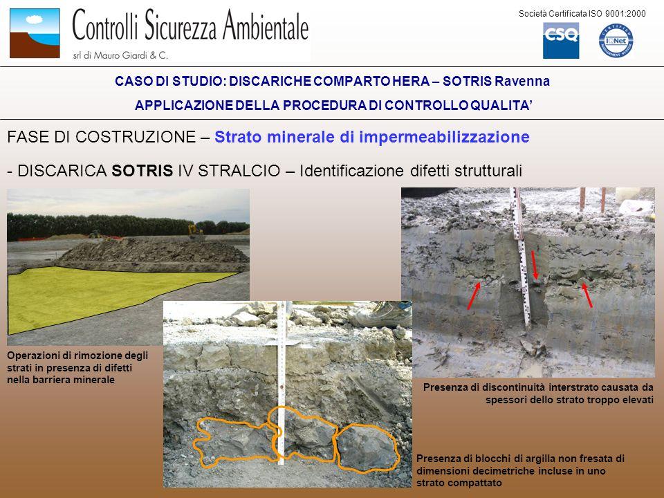 FASE DI COSTRUZIONE – Strato minerale di impermeabilizzazione
