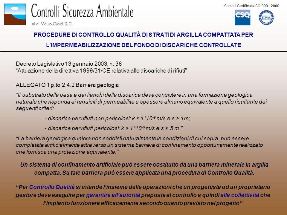 Decreto Legislativo 13 gennaio 2003, n. 36