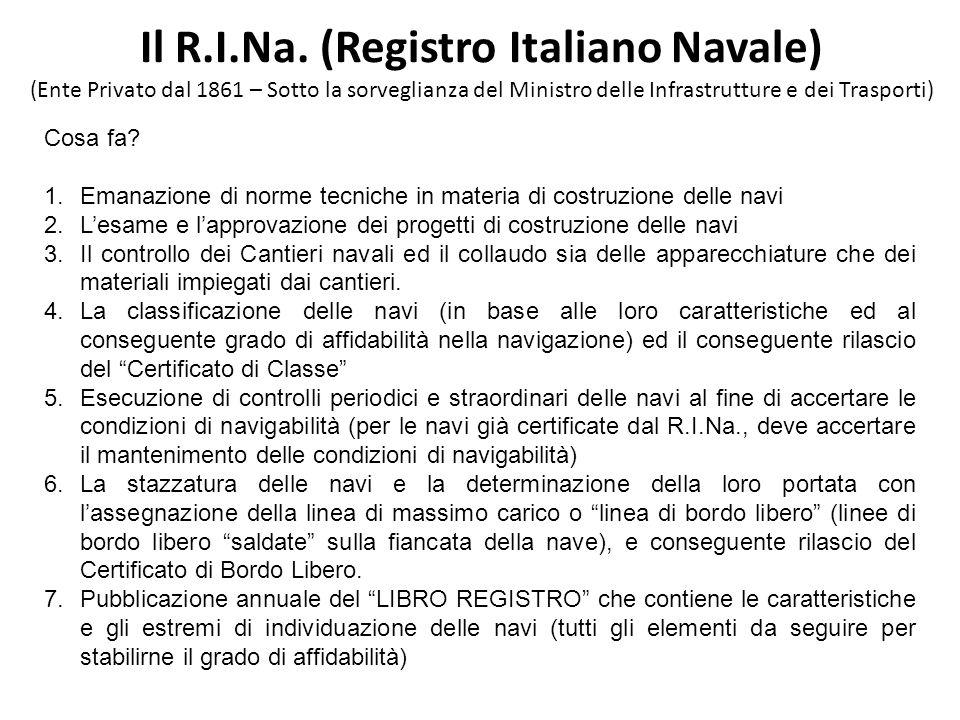 Il R.I.Na. (Registro Italiano Navale)