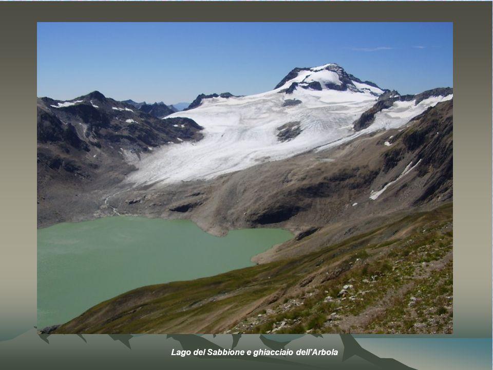 Lago del Sabbione e ghiacciaio dell'Arbola