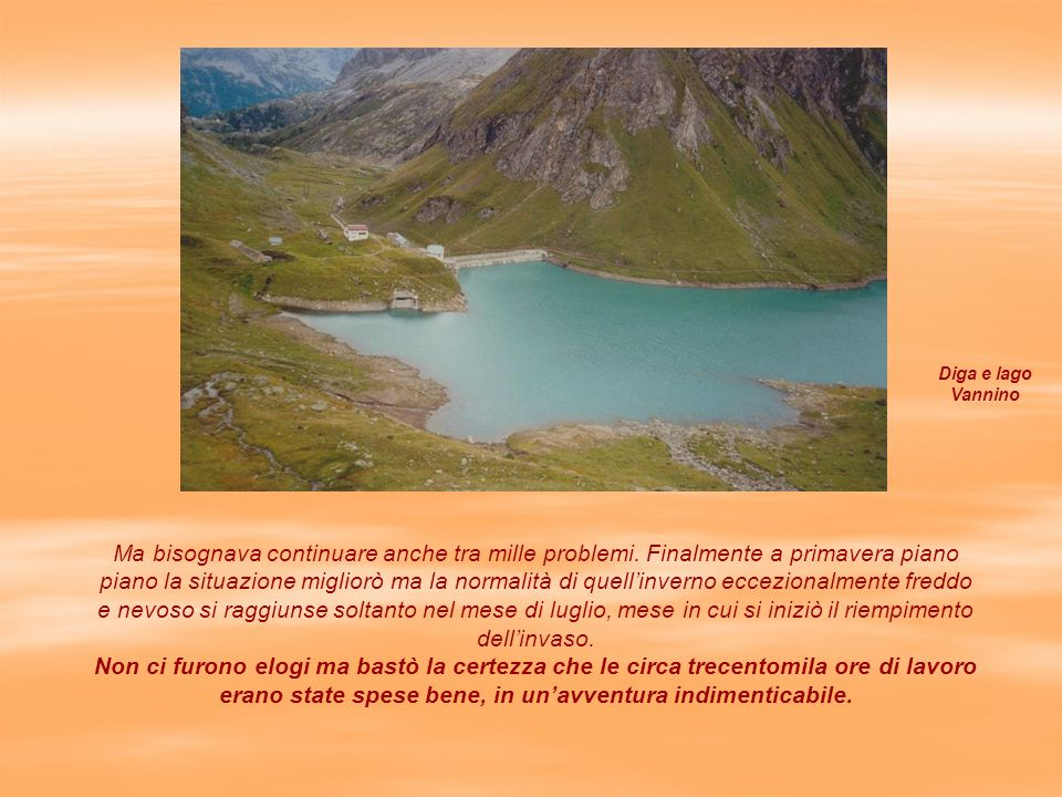 Diga e lago Vannino