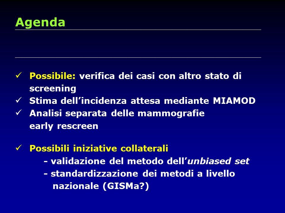 Agenda Possibile: verifica dei casi con altro stato di screening